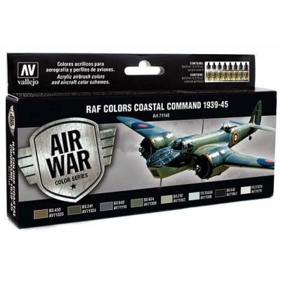 AIR WAR: COASTAL COMMAND 1939 - 45 (8 colores) - ACRILICOS VALLEJO 71148