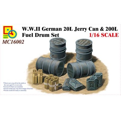 SET BIDONES (200 L) Y PETACAS (20 L) ALEMANAS 1/16 - Classy Hobby MC16002