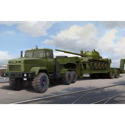 TRACTOR KrAZ-6446 & TRAILER MAZ/ChMZAP- 5247G + Carro de Combate T-62 - Hobby Boss 85513