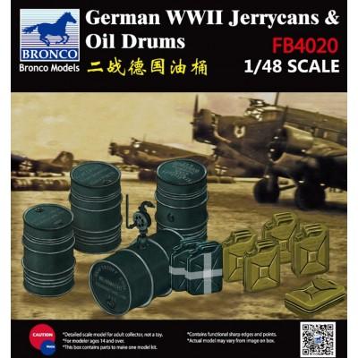 BIDONES Y JERRYCANS ALEMANES WWII ESCALA 1/48 - BRONCO MODELS FB4020