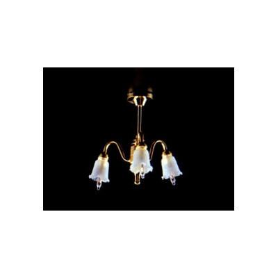 LAMPARA TECHO TRES BRAZOS (TULIPAS)