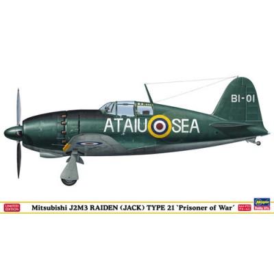 MITSUBISHI J2M3 RAIDEN (JACK) TYPE 21 PRISIONER OF WAR ESCALA 1/48 - HASEGAWA SP305