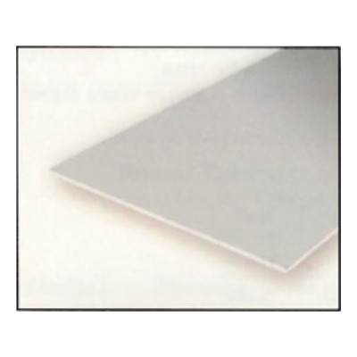 HOJA PLASTICO BLANCO LISA 0,25 mm (275 x 350 mm) - EVERGREEN 9210