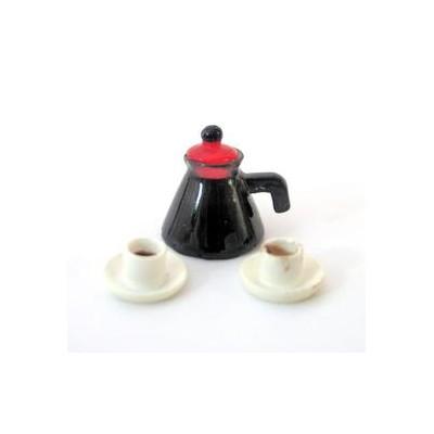 JARRA DE CAFE CON DOS TAZAS