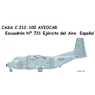 SET COLORES MODEL AIR CASA C-212-100 AVIOCAR