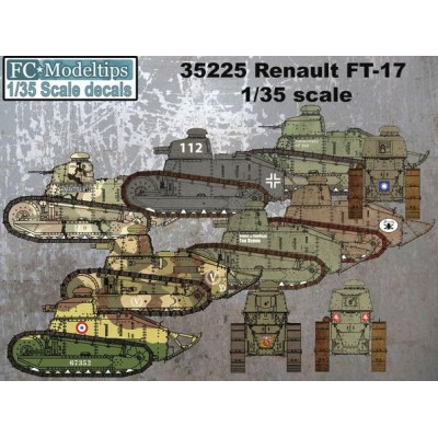 SET CALCAS CARRO DE COMBATE RENAULT FT-17 INTERNACIONAL - FC Modeltips C35225