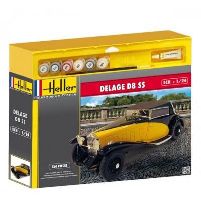 SET DELAGE D8 SS (Pegamento & Pinturas) 1/24 - Heller 50720