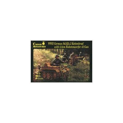 MOTO KETTENKRAD Y CAÑON RAKETENWERFER 43 - Caesar Miniatures H096