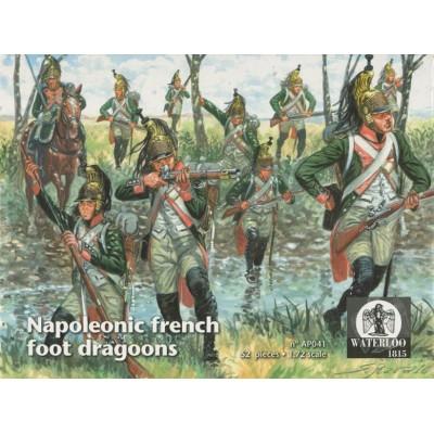 DRAGONES A PIE FRANCESES - Waterloo 1815