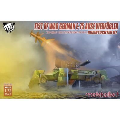 First of War: E-75 Ausf. VIERFUBLER & MISIL RHEINTOCHTER R1 - Modelcollect UA72113