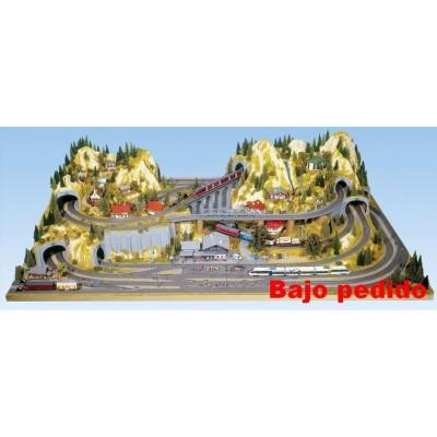 TOPORAMA: SILVRETTA (2200 x 1400 x 520 mm) Escala H0 - Noch 80100