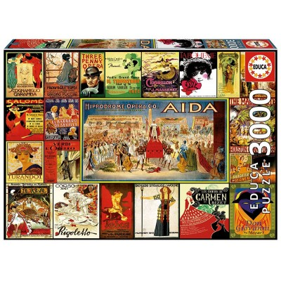 PUZZLE 3000 PZS COLLAGE DE OPERAS - EDUCA 17676