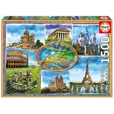 PUZZLE 1500 PZS SIETE MARAVILLAS DE EUROPA - EDUCA 17658