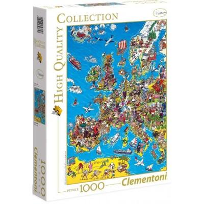 PUZZLE 1000 PZS COMIC MAPA DE EUROPA - CLEMENTONI 39384