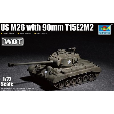CARRO DE COMBATE M-26 PERSHING -90 mm T15E2M2- Trumpeter 07170