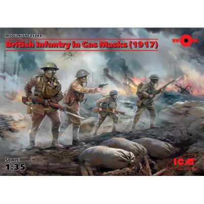 INFANTERIA BRITANICA 1918 & MASCARA DE GAS 1/35 - ICM 35703