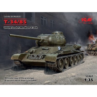 CARRO DE COMBATE T-34/85 1/35 - ICM 35367