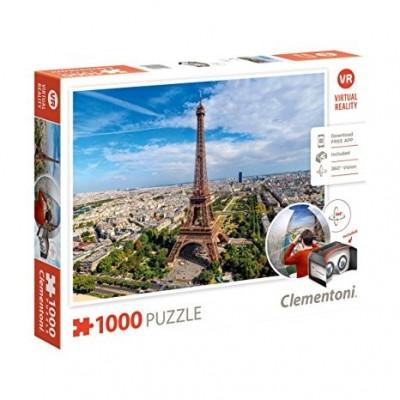 PUZZLE 1000 PZS VIRTUAL PARIS - CLEMENTONI 39402