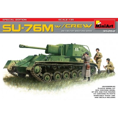 CAZACARROS SU-76 M & TRIPULACION 1/35 - MiniArt 35262