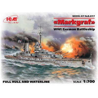 ACORAZADO MARKGRAF 1/700 - ICM S.017