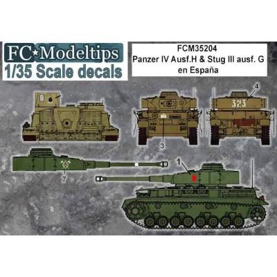 SET CALCAS PANZER IV Y STUG III ESPAÑA - FC Modeltips C35204