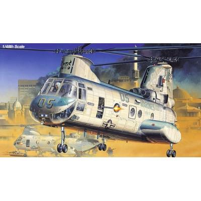 BOEING VERTOL CH-46E BULL FROG - ESCALA 1/48 - ACADEMY 12283