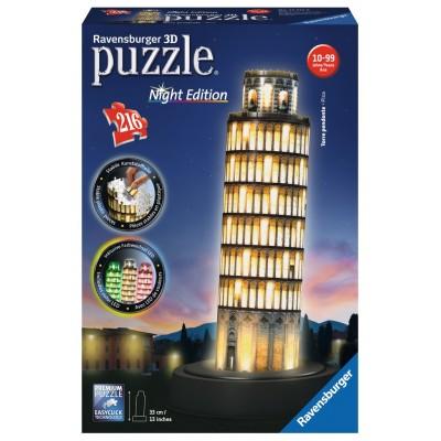 PUZZLE 3D 216 pzas. TORRE DE PISA - Night Edition RAVENSBURGER 12515