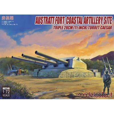 TORRE ARTILLERIA COSTERA CAESAR -3 cañones X 280 mm- 1/72 Modelcollect UA72148