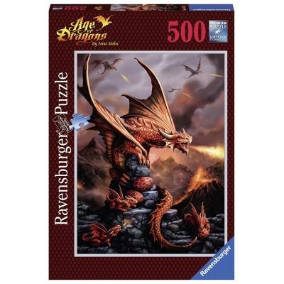 PUZZLE 500 PZS ANNE STOKES DRAGON ARDIENTE - RAVENSGURGER 14747
