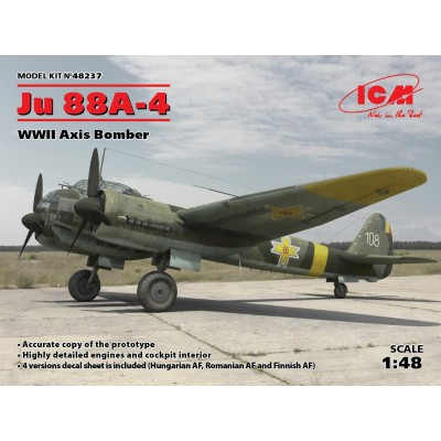 JUNKER JU-88 A4 AXIS BOMBER 1/48 - ICM 48237