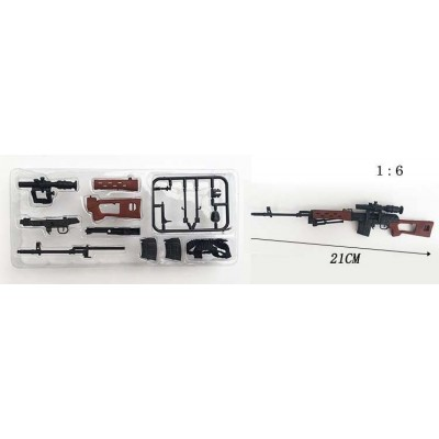 RIFLE FRANCOTIRADOR SVD - ESCALA 1/6 - 4D MODEL GUN 01