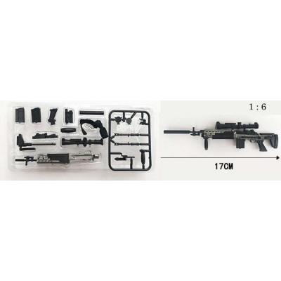 RIFLE FRANCOTIRADOR MK-14 - ESCALA 1/6 - 4D MODEL GUN 03