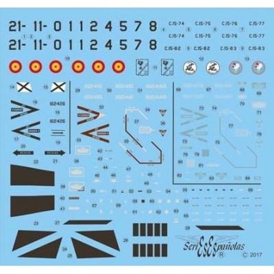 CALCAS SPANISH AGGRESSORS -EF-18 A HORNET- 1/48 - Series Españolas SE1048