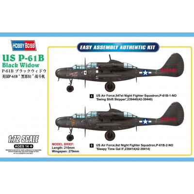 NORTHROP P-61 B BLACK WIDOW - Hobby Boss 87262