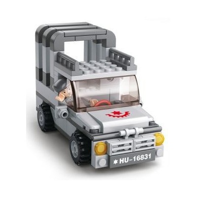 SET ARMY: JEEP - Sluban B0537A