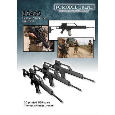 FUSILES DE ASALTO Heckler & Koch G-3 -3 unidades- 1/35 - FC Modeltips 35435