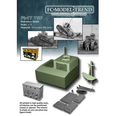 SET TRANSFORMACION CARRO Renault FT a TSF -Radio- 1/35 - FC Modeltips 35457