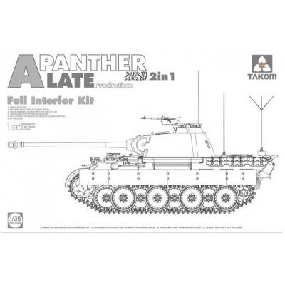 CARRO DE COMBATE Sd.Kfz. 171 PANTHER Ausf. A Late (Interiores) - TAKOM 2099
