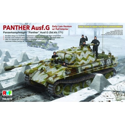 CARRO DE COMBATE Sd.Kfz. 171 PANTHER Ausf. G Late (Interiores) - Rye Field Model RM-5016