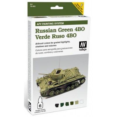 AFV PAINTING SYSTEM: VEHICULOS VERDE RUSO 4BO (6 botes - 8 ml)