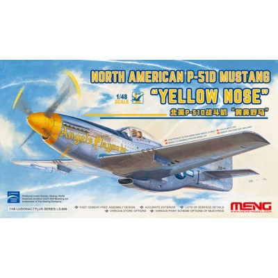 NORTH AMERICAN P-51 D MUSTANG -Yellow Nose- 1/48 - Meng Model LS009