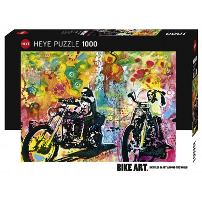 PUZZLE 1000 pzas BIKE ART, EASY RIDER - Heye 29814