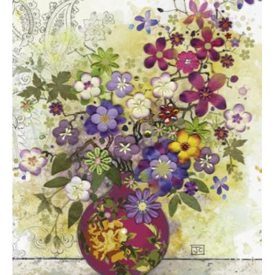 PUZZLE 1000 pzas FLORALS, PINK VASE, Jane Crowther - Heye 29664