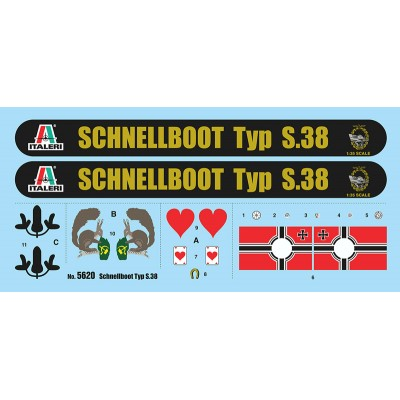 SCHNELLBOOT TYP S-38 - ESCALA 1/35 - ITALERI 5620