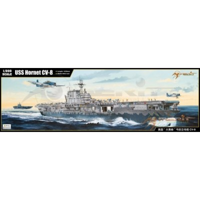 PORTAAVIONES U.S.S. HORNET CV-8 1/200 - Merit-International 62001