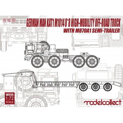 TRACTOR MAN KAT1 M-1014 -8x(- & SEMITRAILER M-870 A1 A/72 - ModelCollect UA72125