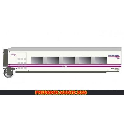 COCHE RESTAURANTE TALGO RENFE TRAIN AND BREAKFAST - LIBREA PANTONE - ESCALA H0 - ELECTROTREN 3359