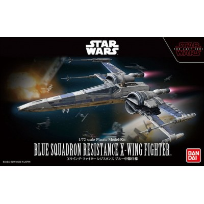 STAR WARS: BLUE SQUADRON RESISTANCE X-WING 1/72 - Bandai 0223296
