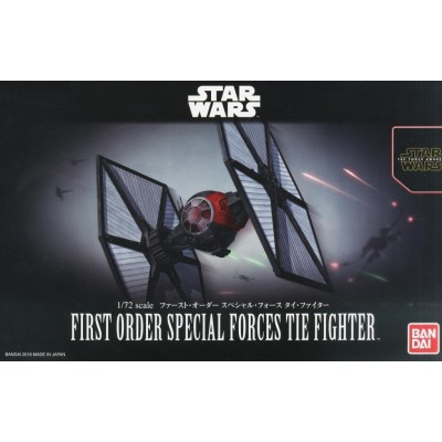 STAR WARS: FIRST ORDER SPECIAL TIE FIGHTER 1/72 - Bandai 0203219