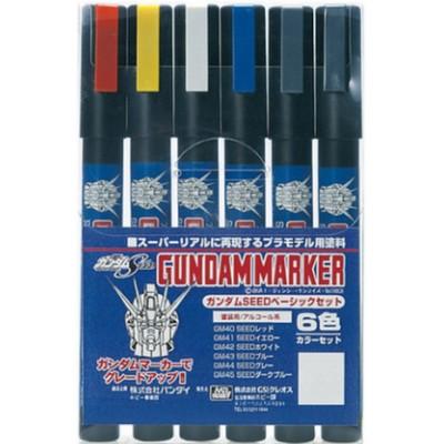 SET MARCADORES BASICOS GUNDAM MARKER (6 MARCADORES) BANDAI GMS-109